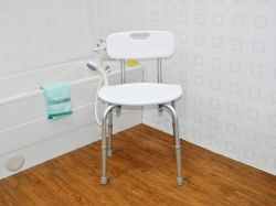 Bath Bench W/ Back - BS-A023, Bathroom Safety